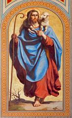 Vienna -  Fresco of  Jesus Christ as Good shepherd