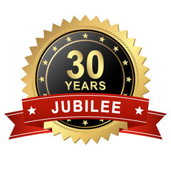 Jubilee Button with Banner - 30 YEARS