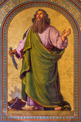 Vienna - Fresco of Abraham  in Altlerchenfelder church