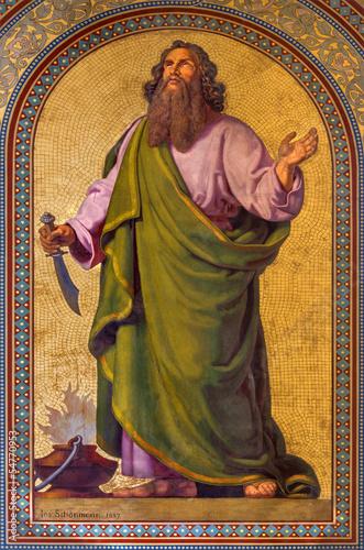 Vienna - Fresco of Abraham  in Altlerchenfelder church