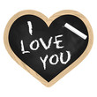 Herz Tafel Schiefer - I love you