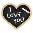 Herz Tafel Schiefer - I love you