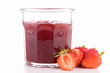 strawberry jam isolated