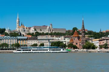 Panoramic view of Fishermen's bastion in Budapest, Hungary