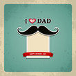 Happy fathers day vintage greeting card background, vector