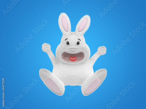 happy 3d rabbit