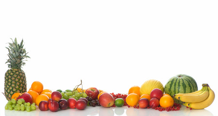 Rahmen aus Obst