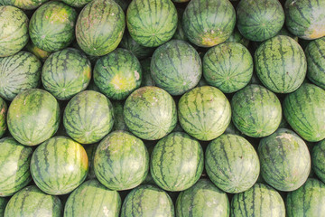 Stack of watermelons