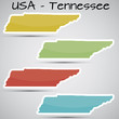 stickers in form of Tennessee state, USA