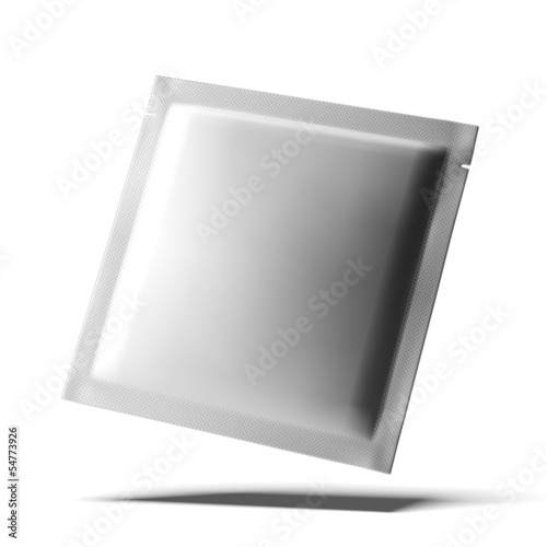 White Blank Foil Package