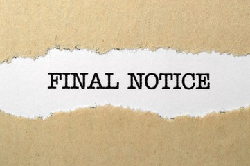 Final notice