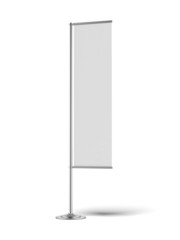 Blank banner flag