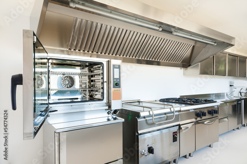 Leinwanddruck Bild Professional kitchen in modern building