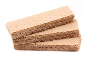 Three chocolate wafer.