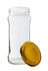 High Glass Jar with Golden Lid