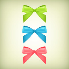 Vector set of colorful bows