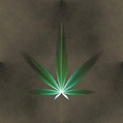 Seamless tileable fractal marijuana leaf