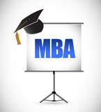 mba education graduation presentation board. poster