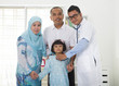 malay family visiting the doctor