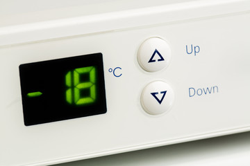 Freezer control buttons and display