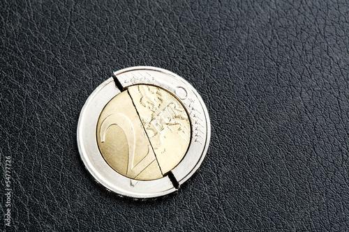 Euro crisis - broken coin