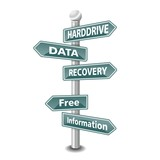 HARDDRIVE DATA RECOVERY icon as signpost - NEW TOP TREND poster