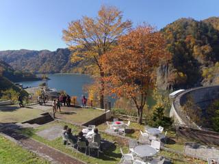 展望台から見た豊平峡ダム