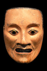 Mikazuki, Noh mask of male spirit. Japan, Momoyama period (1573-