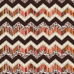 brown zizgzag seamless pattern
