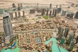 Fotoroleta Luftaufnahme Dubai Downtown