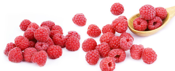 raspberry  on white background