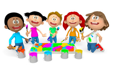 3D kids painting
