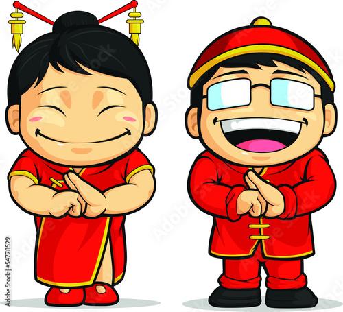 中国男孩&女孩动画片