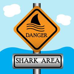 Shark area sign