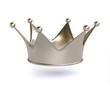 3D Platinum/Silver Crown