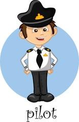 Мультипликационный персонаж - пилот