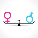 Male and female equality concept stock vector