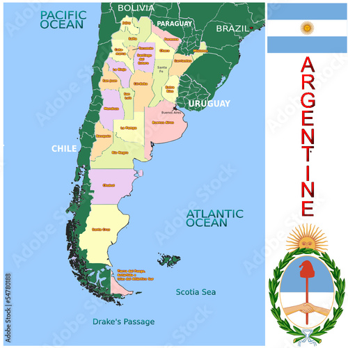 Argentine South America national emblem map symbol motto