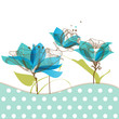 Floral garden greeting card