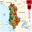 Albania Europe national emblem map symbol location