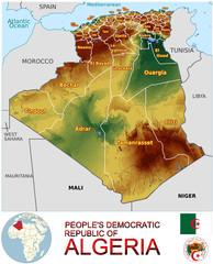 Algeria Africa national emblem map symbol location