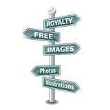 ROYALTY FREE IMAGES  icon as signpost - NEW TOP TREND poster