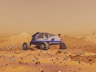 Vehículo en Marte