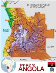 Angola Africa national emblem map symbol location