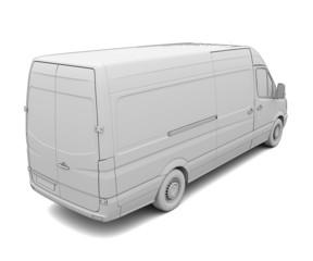 Sketch white van
