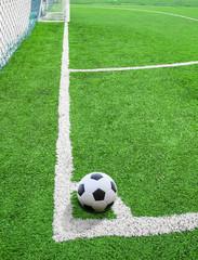 soccer ball on conner