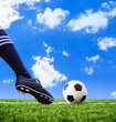 foot shooting football