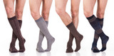 Fototapety collection of man socks on foot