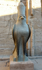 Egyptian statue of the god Horus, Edfu,