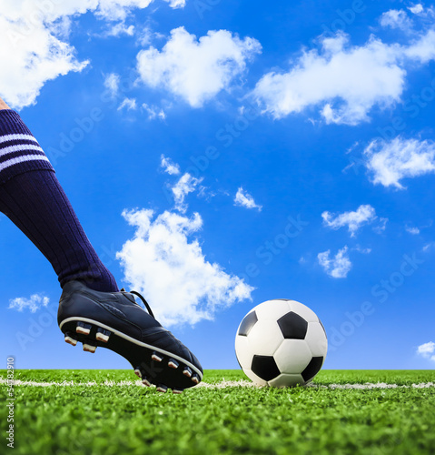 foot shooting football